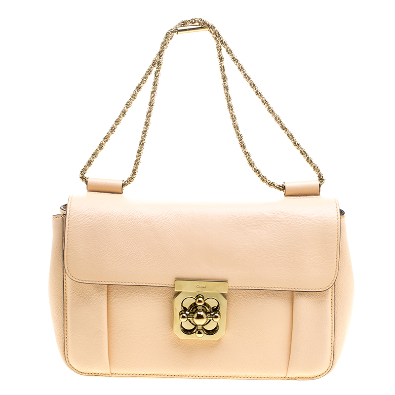 b309b7a653c4 Buy Chloe Peach Leather Medium Elsie Shoulder Bag 127510 at best price