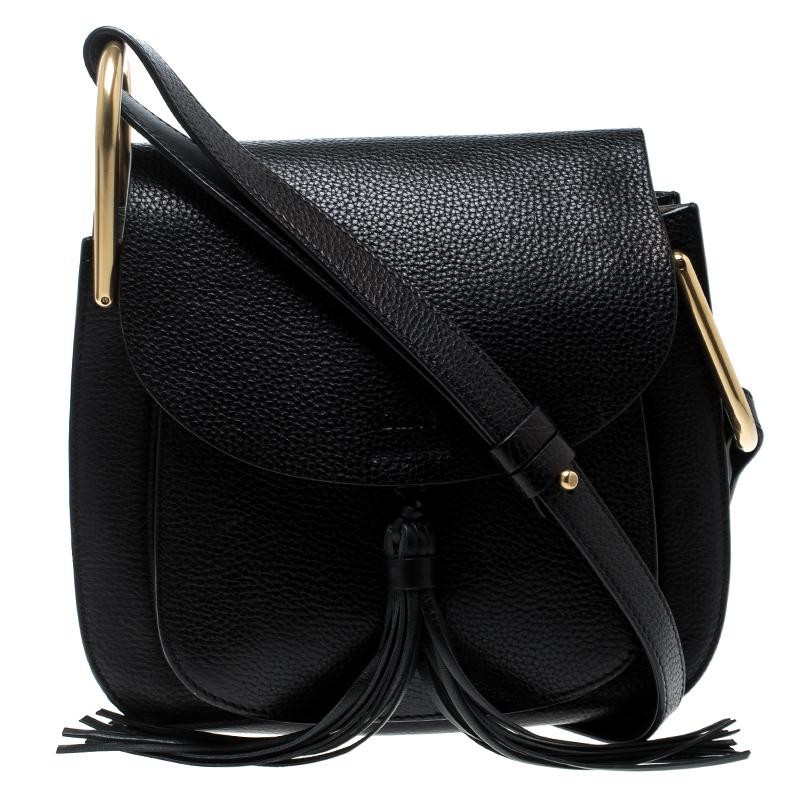 aab89b3125d Buy Chloe Black Leather Medium Hudson Shoulder Bag 140500 at best ...
