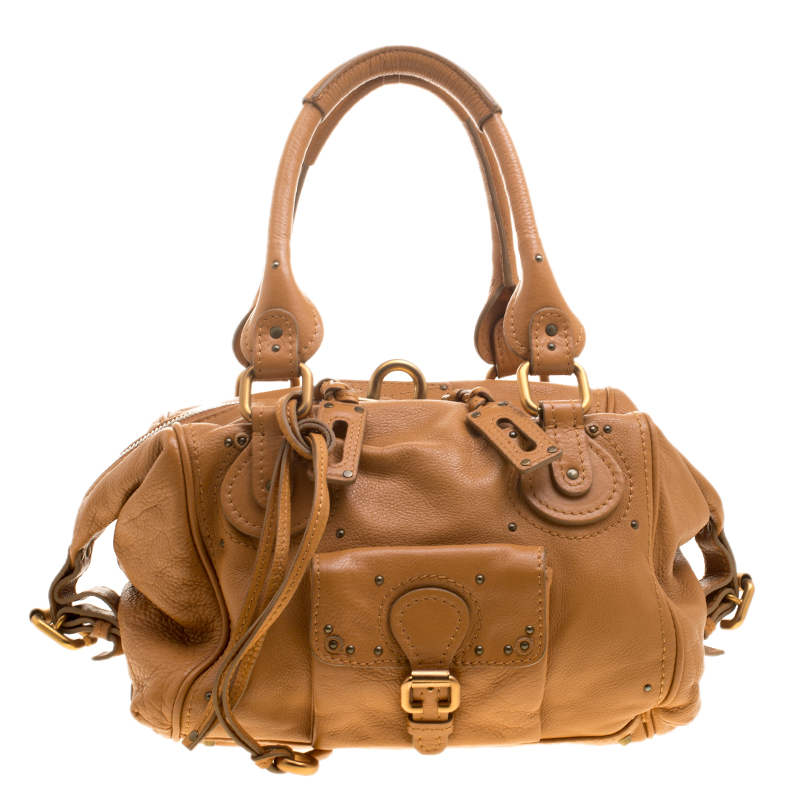 3956df13b06 ... Chloe Camel Leather Front Pocket Paddington Satchel. nextprev. prevnext