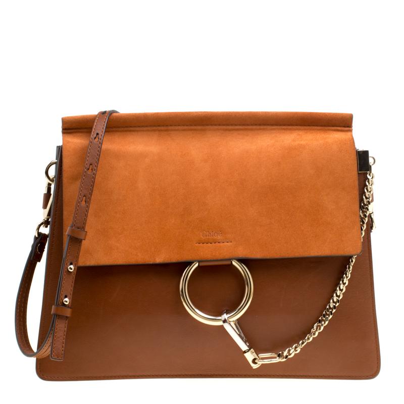 f04d1c41112 ... Chloe Brown/Orange Leather and Suede Faye Shoulder Bag. nextprev.  prevnext