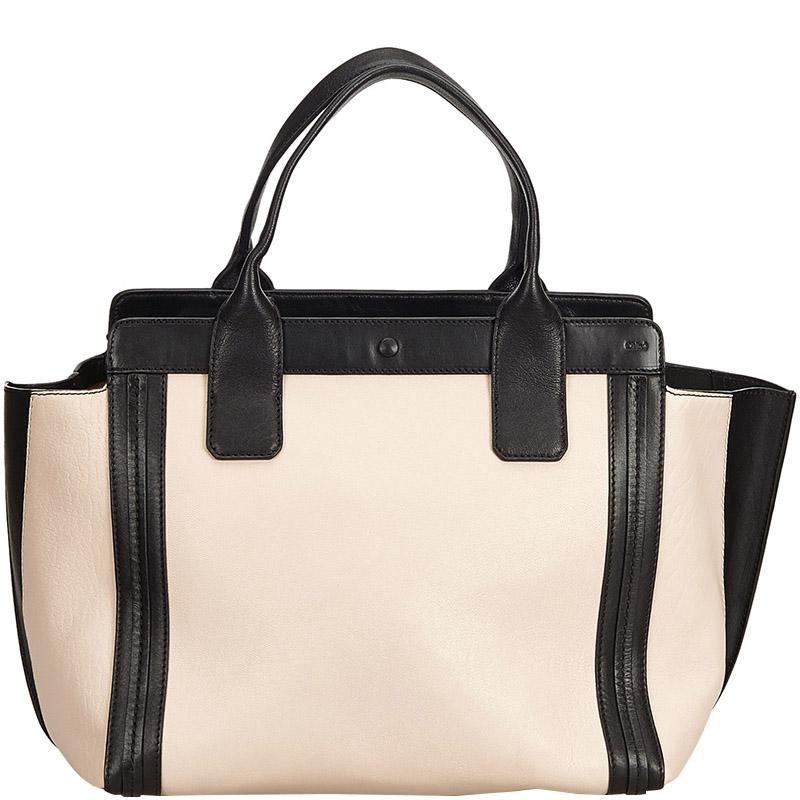 9287cdd3df Chloe Black Leather Allison Tote Bag