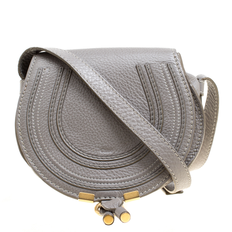 179c70da17 ... Chloe Grey Leather Mini Marcie Crossbody Bag. nextprev. prevnext