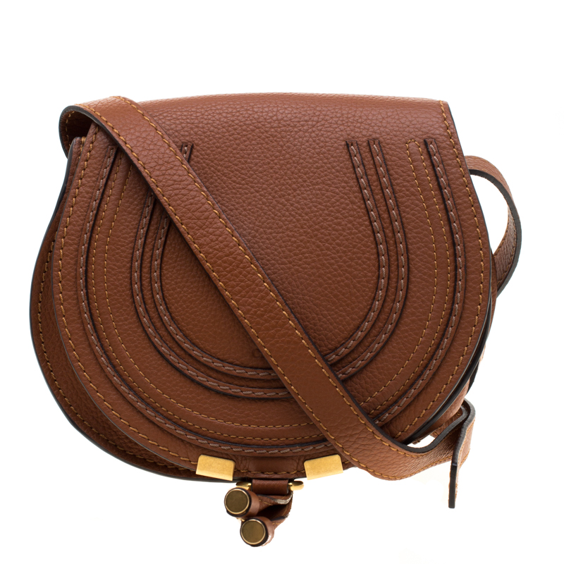 f7b6e9d5d6e Chloe Brown Leather Mini Marcie Crossbody Bag