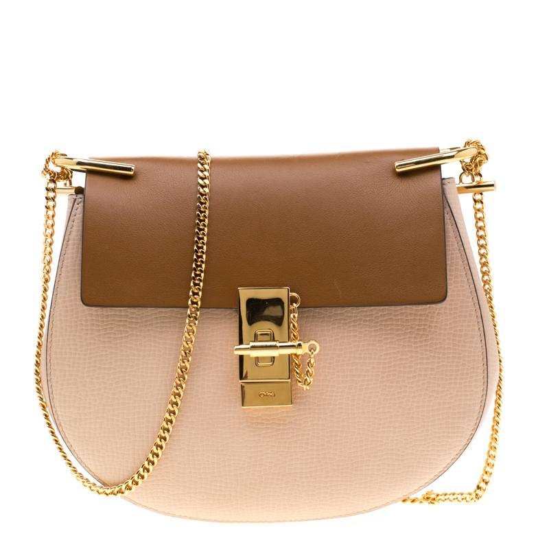 2d66ac4efac ... Chloe Peach/Brown Embossed Leather Medium Drew Shoulder Bag. nextprev.  prevnext
