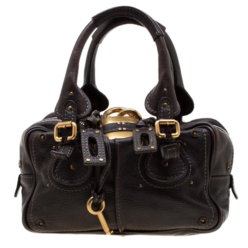 c0c61c57 Chloe Dark Brown Leather Mini Paddington Satchel