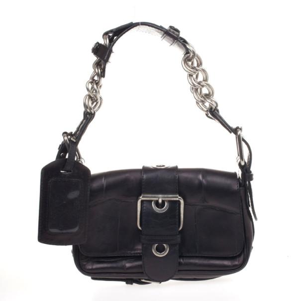 Chloe Black Leather Shoulder Bag
