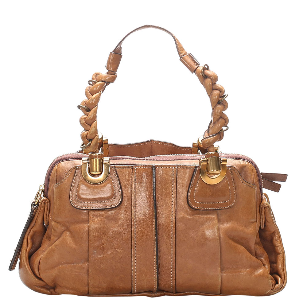 Pre-owned Chloé Brown Leather Heloise Shoulder Bags
