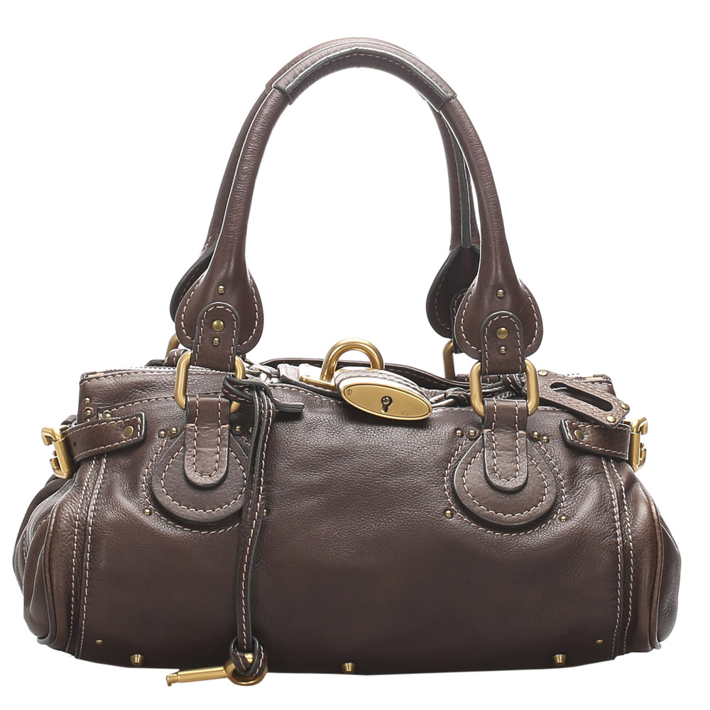 Pre-owned Chloé Brown Leather Paddington Satchel