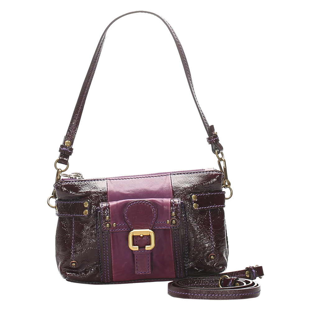 Pre-owned Chloé Purple Leather Shoulder Bag