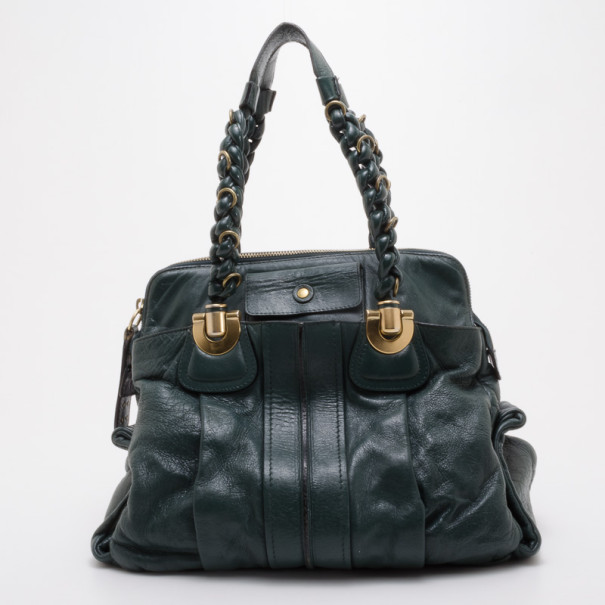 8457a8f525ea4 Buy Chloe Forest Green Large Heloise Tote 37740 at best price | TLC