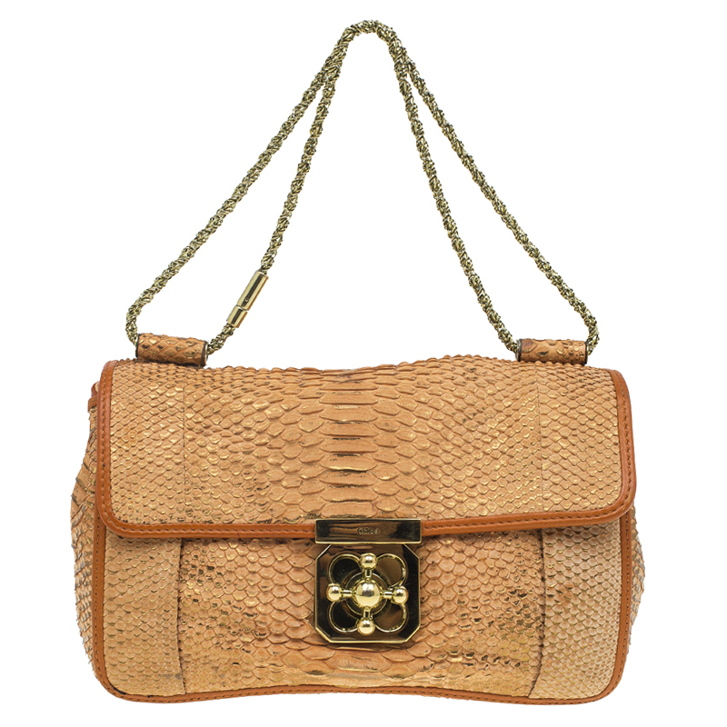 3c1d66ff371 Buy Chloe Brown Python Medium Elsie Shoulder Bag 52858 at best price ...