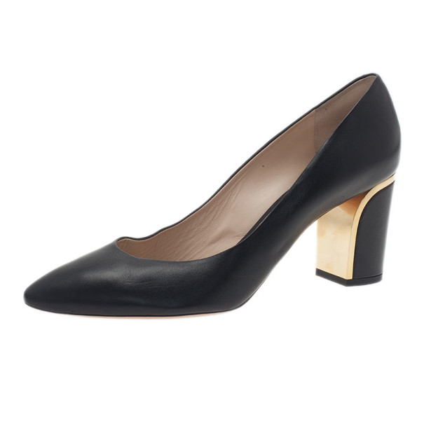 Chloe Black Leather Beckie Pumps Size