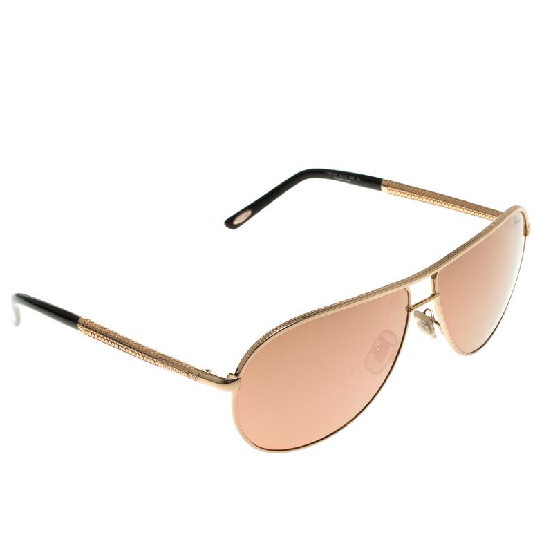 fe9d0e57b Buy Chopard Pink/Gold SCH A10 Aviator Sunglasses 117870 at best ...