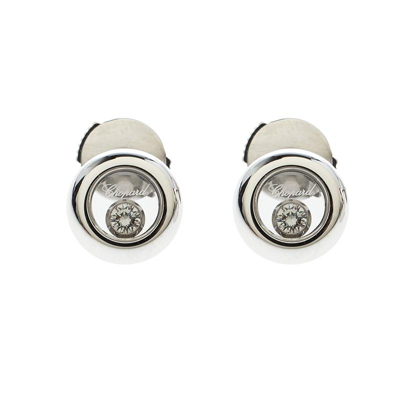 Купить со скидкой Chopard Happy Diamonds Icons 18k White Gold Stud Earrings