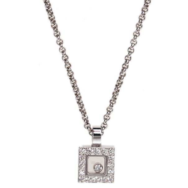b32ad6731ee47 Chopard Happy Diamonds Icons 18K White Gold and Diamonds Pendant