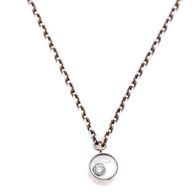 42f3e29c6a6d5 ... Chopard Happy Diamond Icons 18k White Gold Pendant Necklace. nextprev.  prevnext