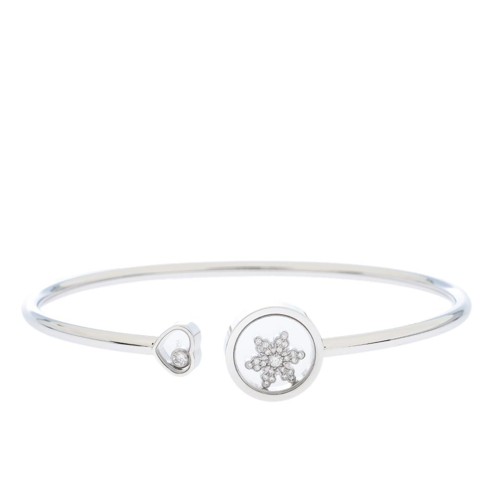 Chopard Happy Snowflake Diamond 18K White Gold Bracelet