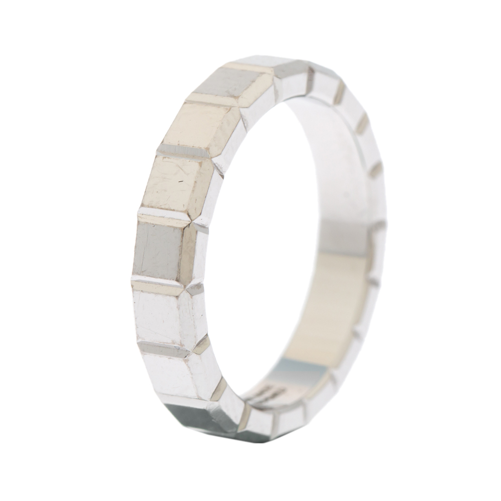 Chopard Ice Cube 18K White Gold Band Ring Size 53