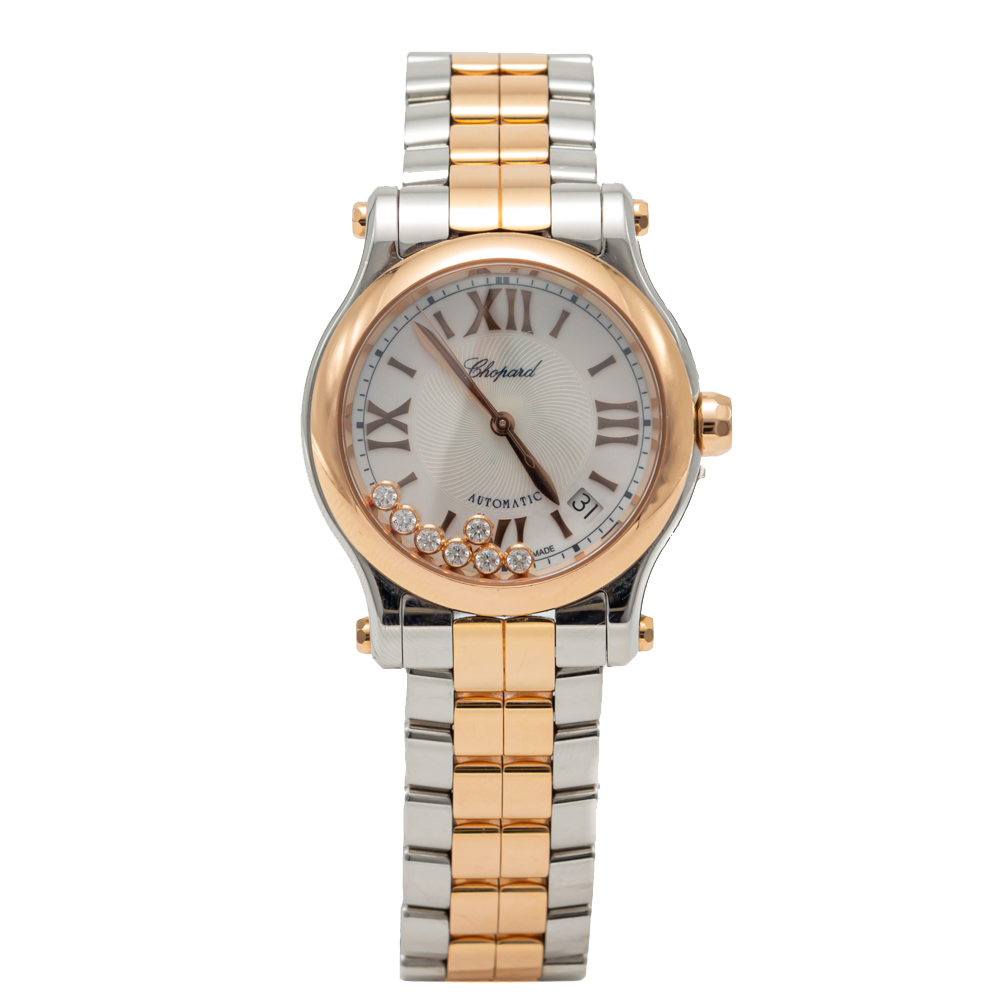 Chopard Mother Of Pearl Medium Happy Sport Steel & Rose Gold Automatic Watch 36MM