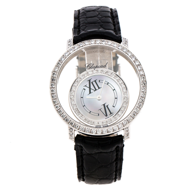Chopard Mother of Pearl 18K White Gold Diamonds 20/7230 Women's Wristwatch 36 mm
