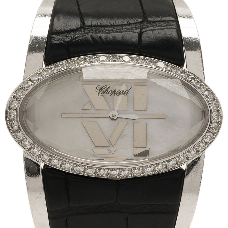 Chopard White Stainless Steel Women's Wristwatch 36MM