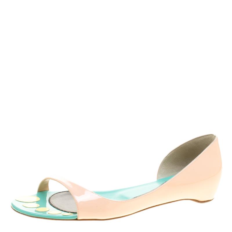 8247d5a3f86d ... Christian Louboutin Blush Pink Patent Leather Toboggan Flat D orsay Sandals  Size 40. nextprev. prevnext