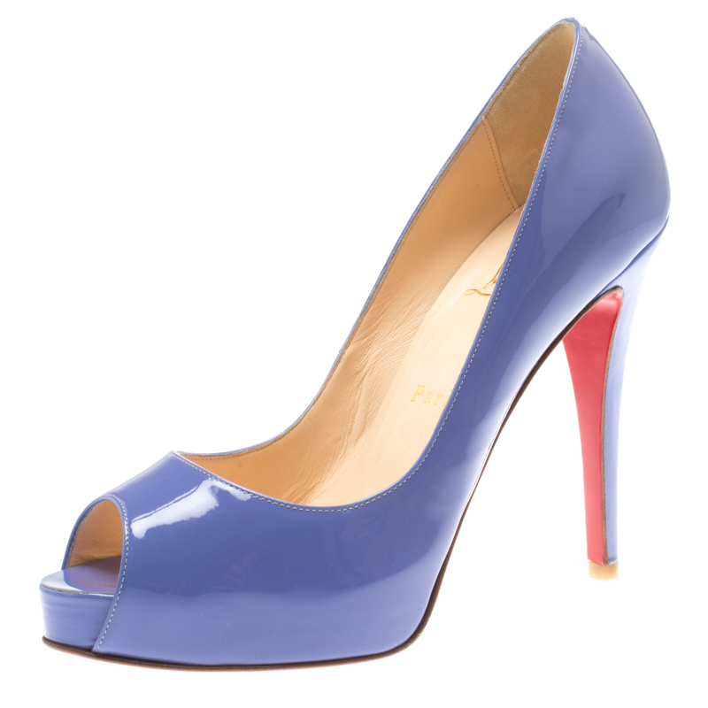 d27043c8d863 ... Christian Louboutin Lilac Patent Leather New Very Prive Peep Toe Pumps  Size 38. nextprev. prevnext