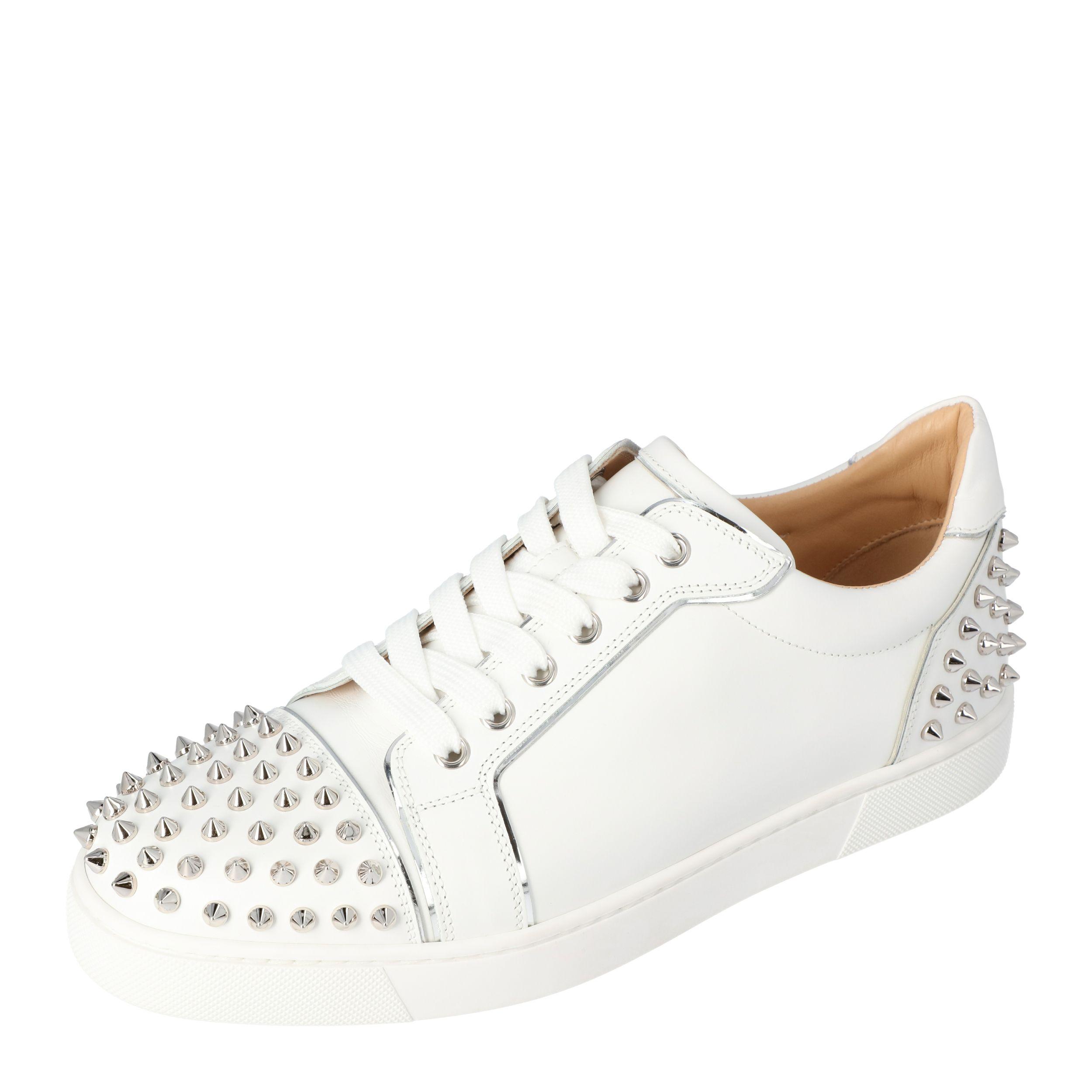 Christian Louboutin White Leather