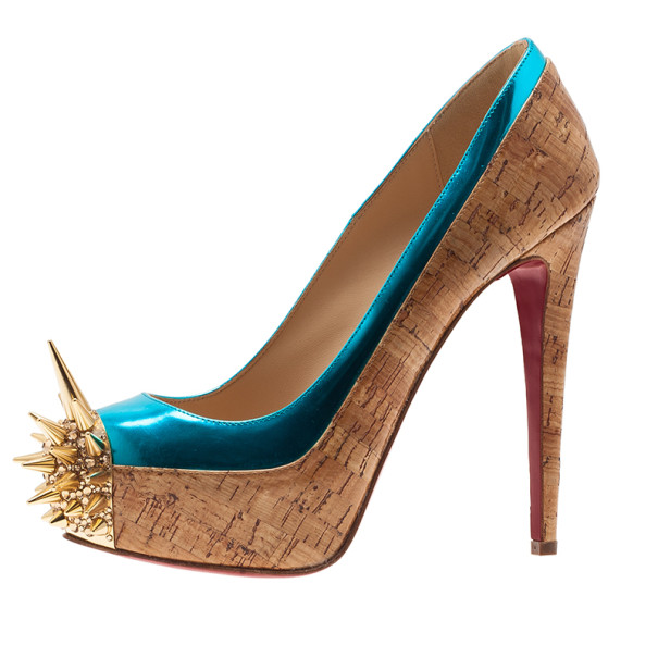 5b63f620e03 Christian Louboutin Two Tone Asteroid Spike Pumps Size 36.5