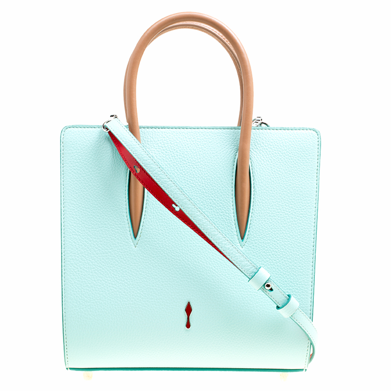 227f1d43c55 Christian Louboutin Multicolor Leather Small Paloma Top Handle Bag