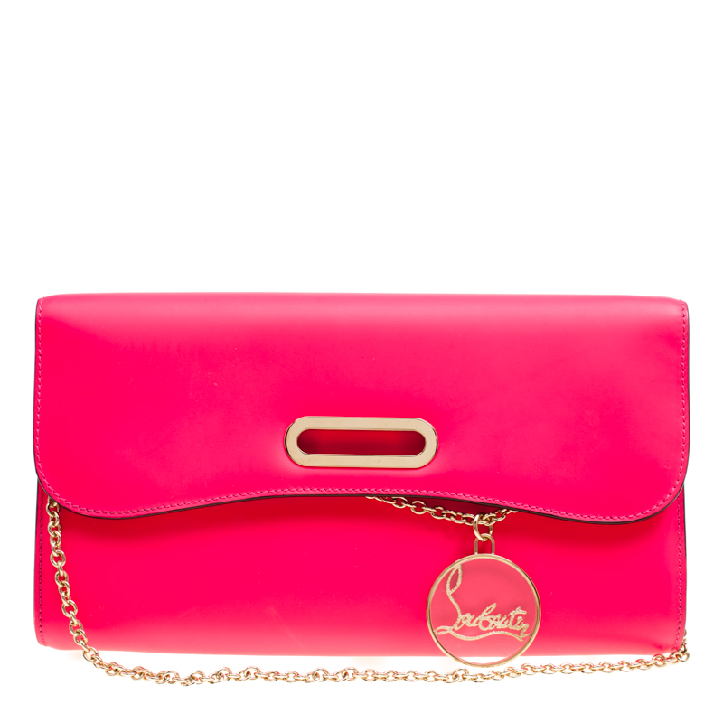 f0c03d2567 ... Christian Louboutin Fluorescent Pink Leather Riviera Clutch. nextprev.  prevnext