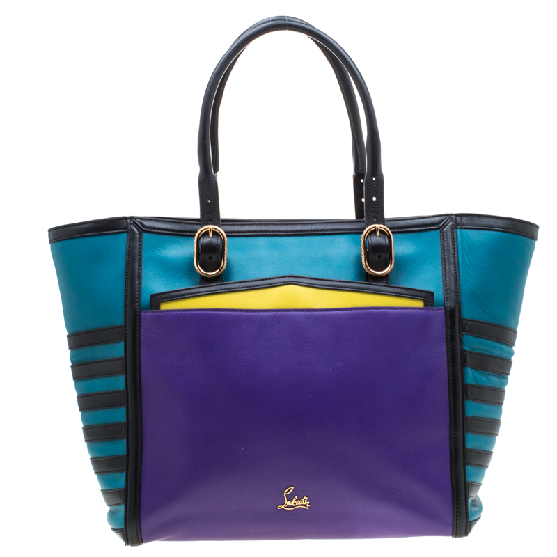 f55073273ff Christian Louboutin Multicolor Leather Zip Tote