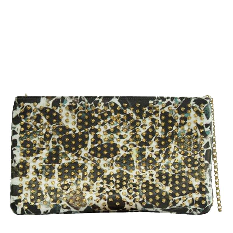 Christian Louboutin Multicolor Leather Rockstuds Clutch  - buy with discount