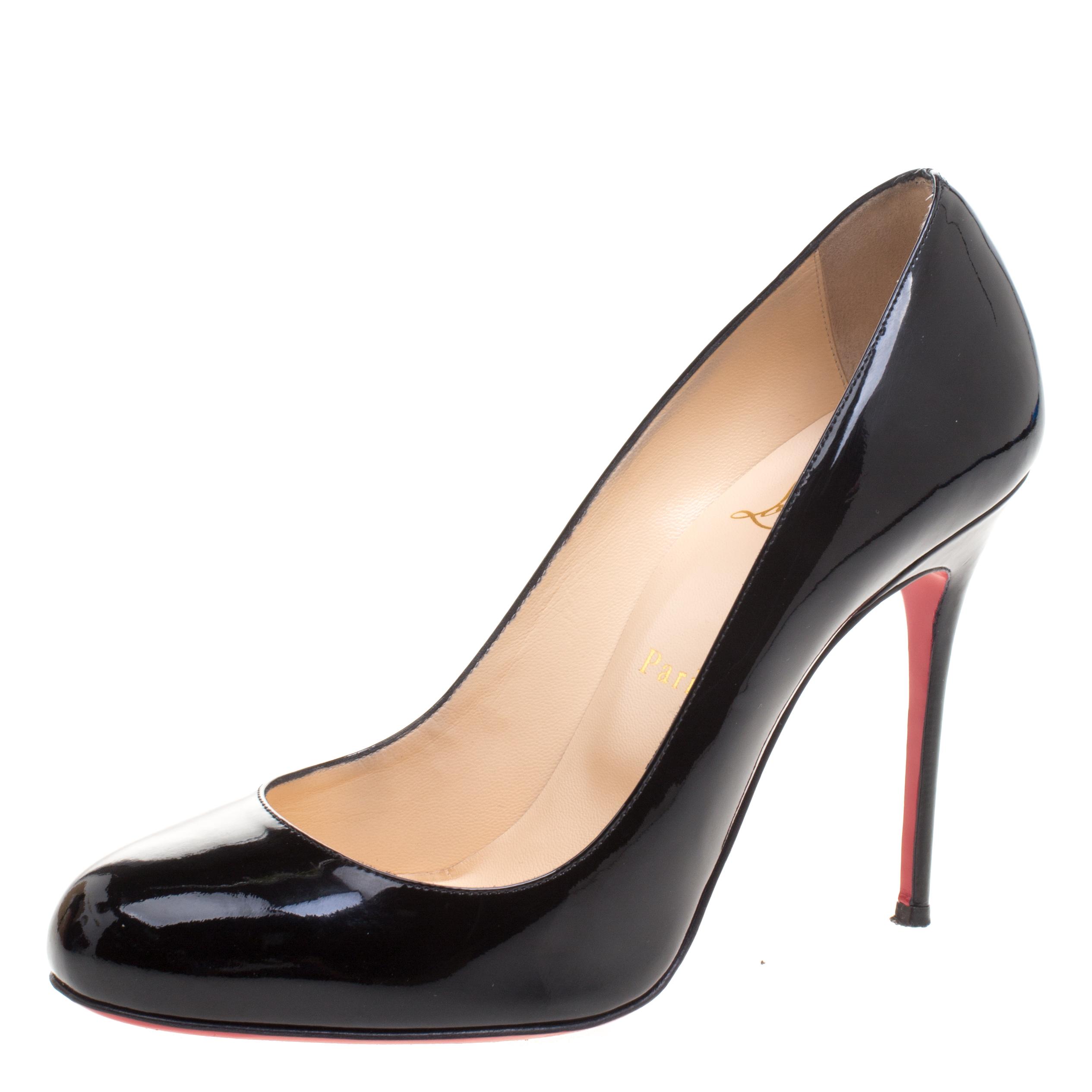 7d1da6e75b3 Buy Christian Louboutin Black Patent Leather Fifi Pumps Size 39.5 ...