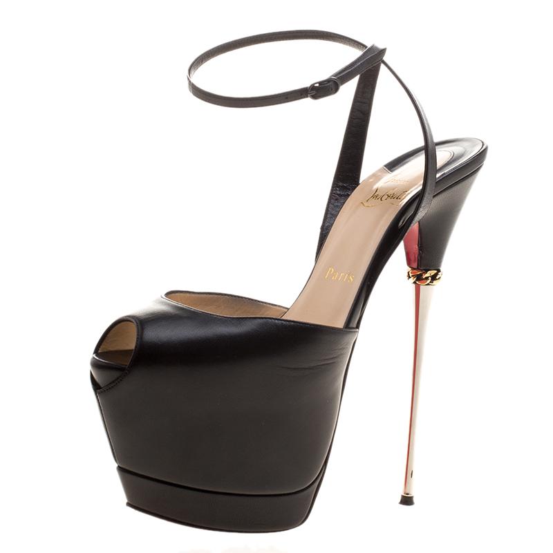 88b8ec321933 ... Leather Despressi Peep Toe Ankle Strap Platform Sandals Size 38.  nextprev. prevnext