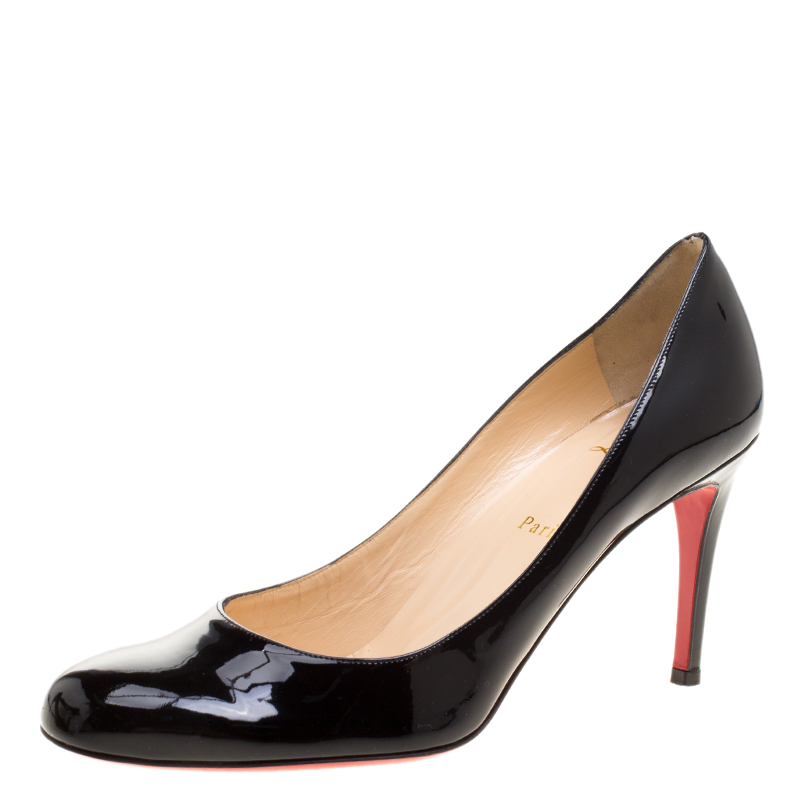 4b130380b8f8 ... Christian Louboutin Black Patent Leather Fifi Pumps Size 39. nextprev.  prevnext