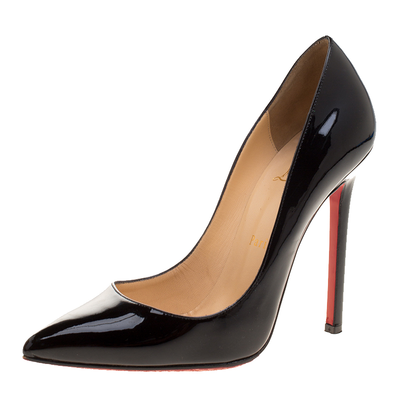 aba729629c43 ... Christian Louboutin Black Patent Leather Pigalle Pointed Toe Pumps Size  38. nextprev. prevnext