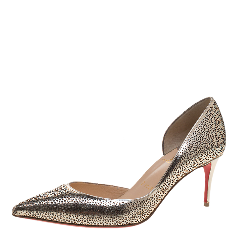 42fdbd6dd9a ... Leather and Glitter Galu D'orsay Pointed Toe Pumps Size. nextprev.  prevnext