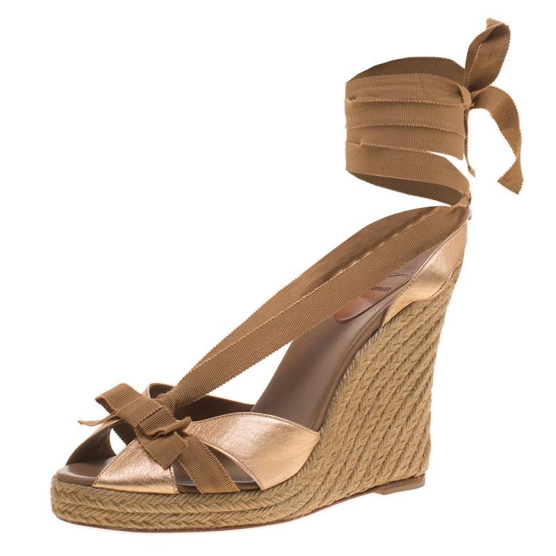 ... Ankle Wrap Espadrille Wedge Sandals Size 40. nextprev. prevnext