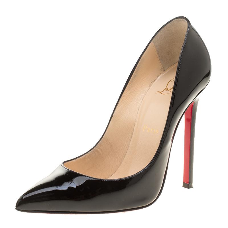 e757af604c9 ... Christian Louboutin Black Patent Leather Pigalle Pointed Toe Pumps Size  37.5. nextprev. prevnext