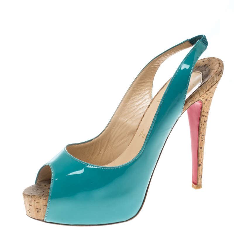 Buy Christian Louboutin Tiffany Blue Patent Leather So Private ...