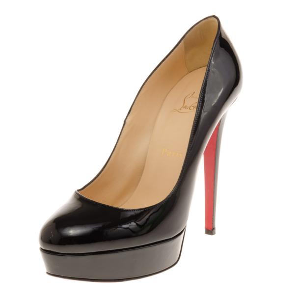 9c5ba1a52102 ... Christian Louboutin Black Patent Bianca Platform Pumps Size 40.  nextprev. prevnext