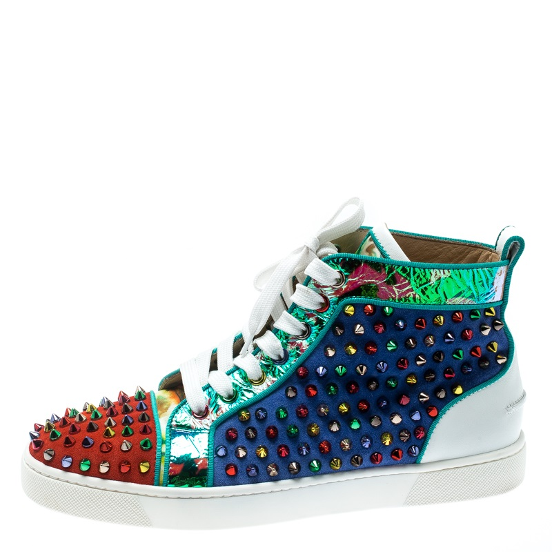 Leather Louis Spikes High