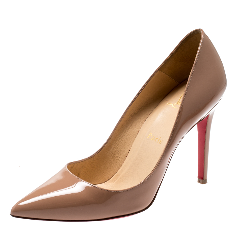 info for be255 09bbf Christian Louboutin Beige Patent Leather So Kate Pumps Size 38.5