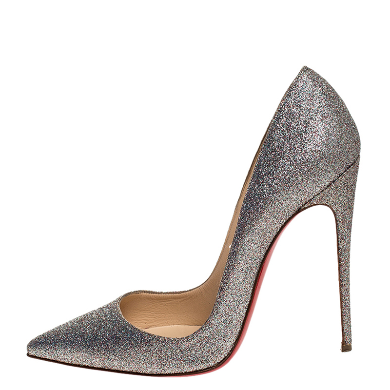 Christian Louboutin Glitter Fabric So Kate Pointed Toe Pumps Size, Multicolor