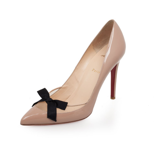 8e29397ccb7c Buy Christian Louboutin Nude Patent  Love Me  Pumps Size 42 32930 at ...
