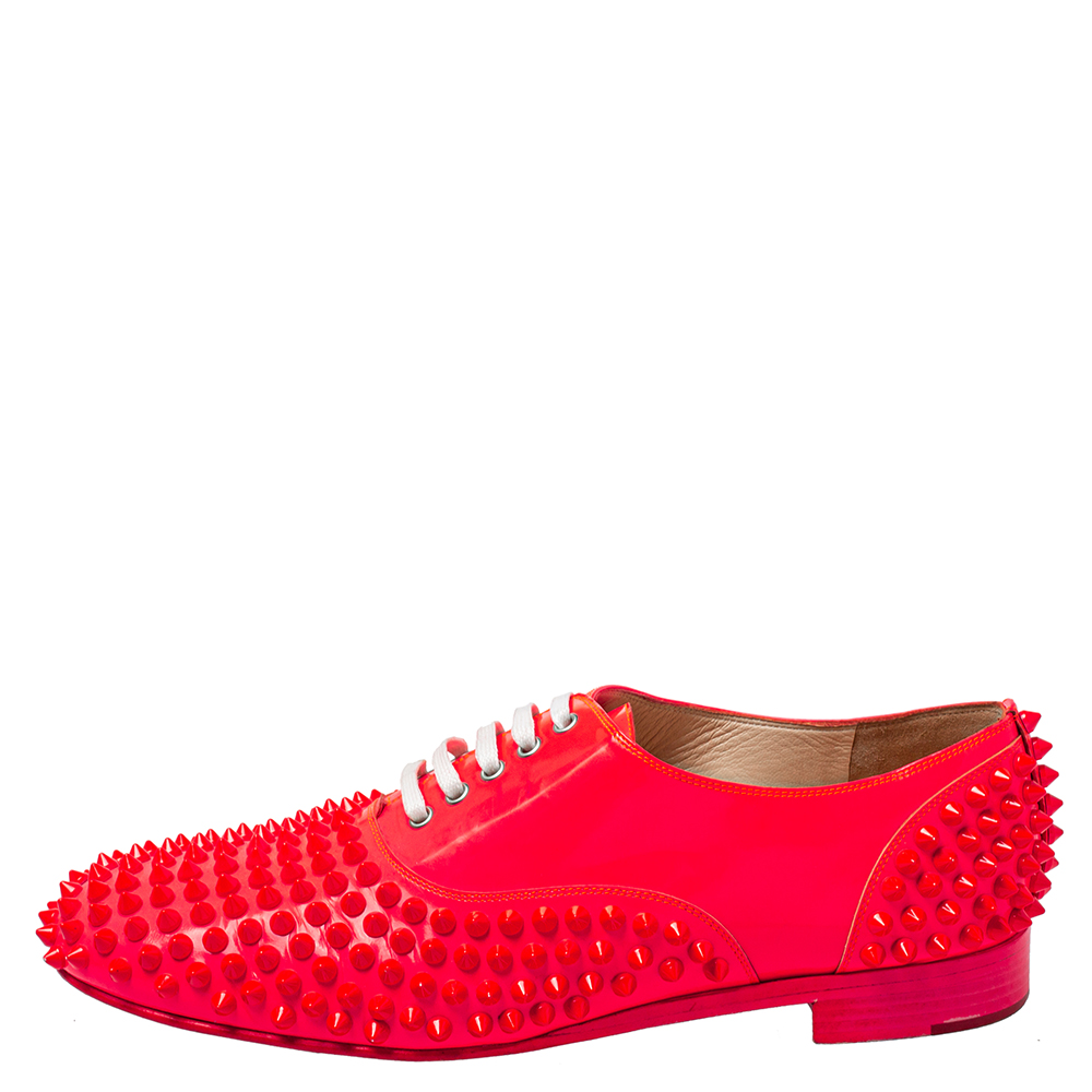 Christian Louboutin Pink Sime Patent Leather Freddy Oxfords Size 39.5