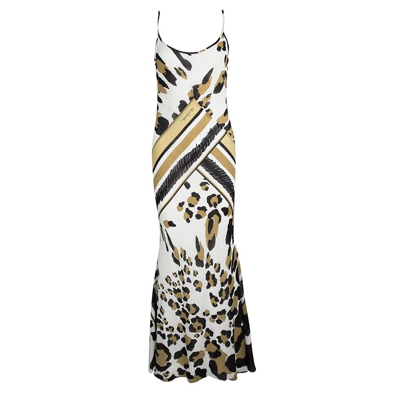 ca4a85c38d5d4 ... Roberto Cavalli Animal Printed Silk Sleevless Maxi Dress S. nextprev.  prevnext