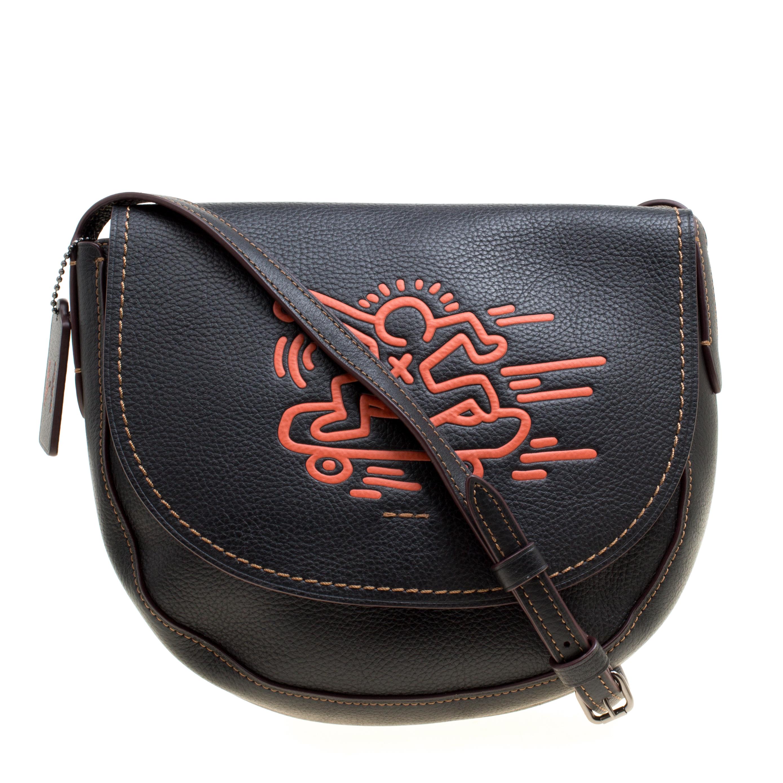 da63065b5dea ... Coach Black Leather Keith Haring Hudson Crossbody Flap Bag. nextprev.  prevnext