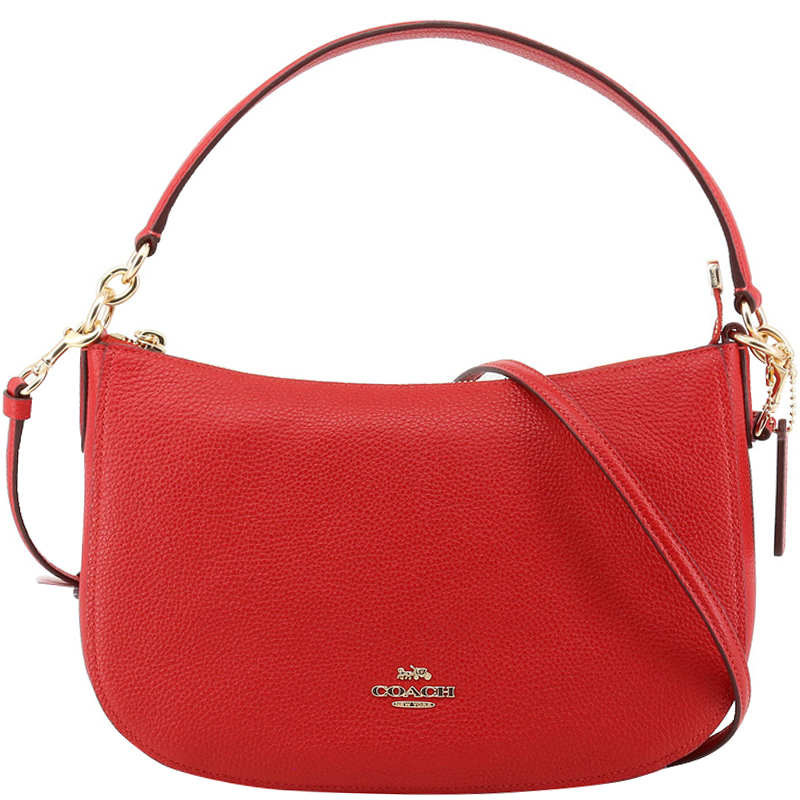 c249d1244 Buy Coach Red Pebbled Leather Chelsea Crossbody Bag 161876 at best ...